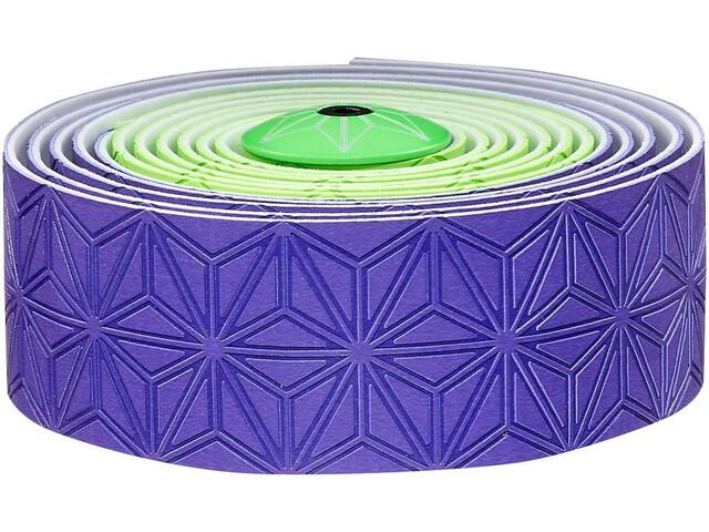 Supacaz Super Sticky Kush Handlebar Tape Multi, neon green/neon purple